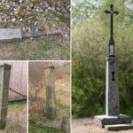 renovace rekonstrukce a obnova kříže, čištění kamene