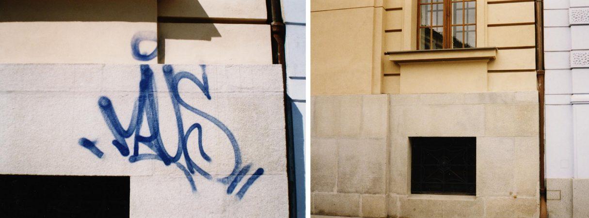 renovace, rekonstrukce, oprava, obnova a čištění zdi, odstranění graffiti